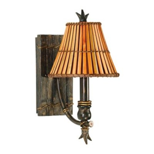 Kenroy Home Kwai 1-Light Sconce in Bronze