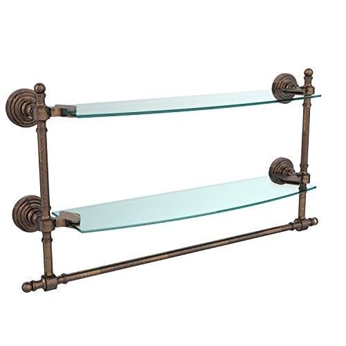 Allied Brass Double Shelf w/Towel Bar Venetian Bronze [Venetian Bronze, 18 in.]