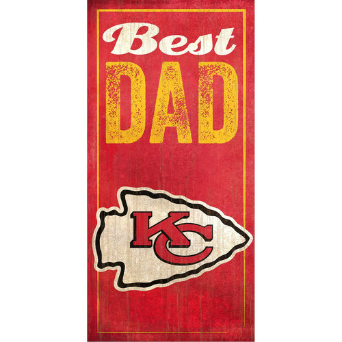 Kansas City Chiefs Best Dad Sign