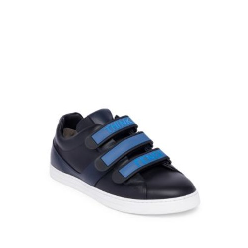 FENDI Leather Grip-Tape Sneakers