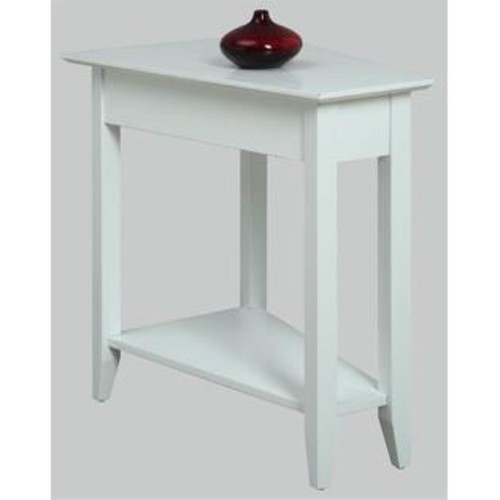 Convenience Concepts Wedge End Table in White