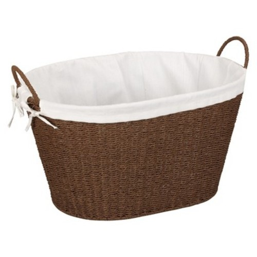 Household Essentials Paper Rope with Lining & Handles Stained Laundry Basket