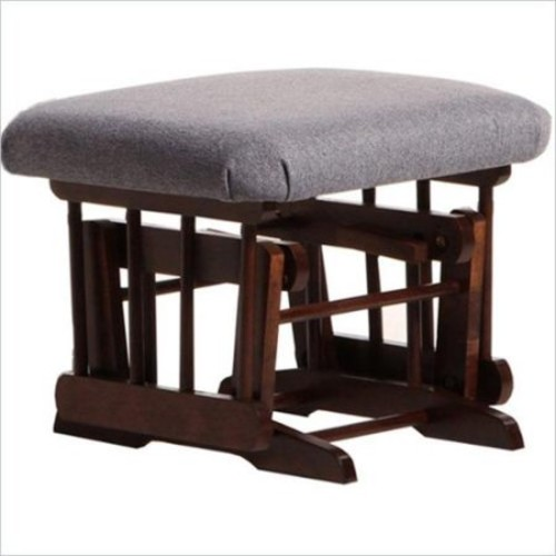 ULTRAMOTION by Dutailier Ottoman For Sleigh and Post Gliders in Coffee and Dark Grey
