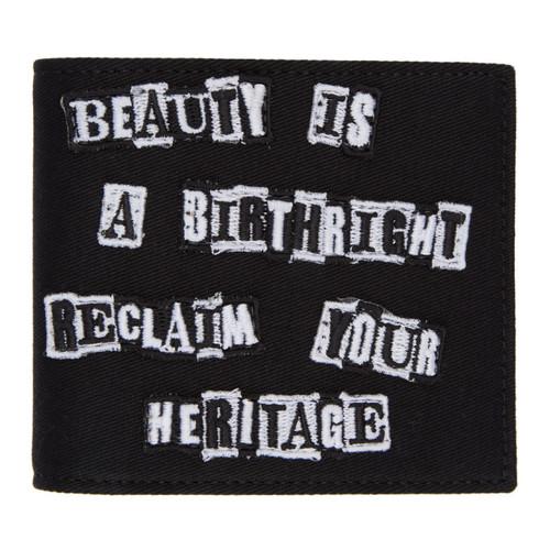VALENTINO Black  Garavani Punk Poem Bifold Wallet