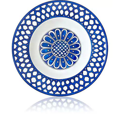 Herms Bleus D'Ailleurs Soup Plate