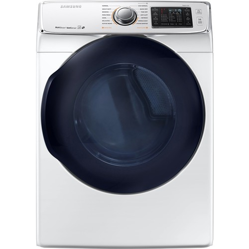 Samsung - 7.5 Cu. Ft. 14-Cycle Gas Dryer with Steam - White