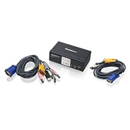 IOGEAR 2-Port KVMP Switch with USB 2.0 Hub and Audio, GCS1802 [2-port]