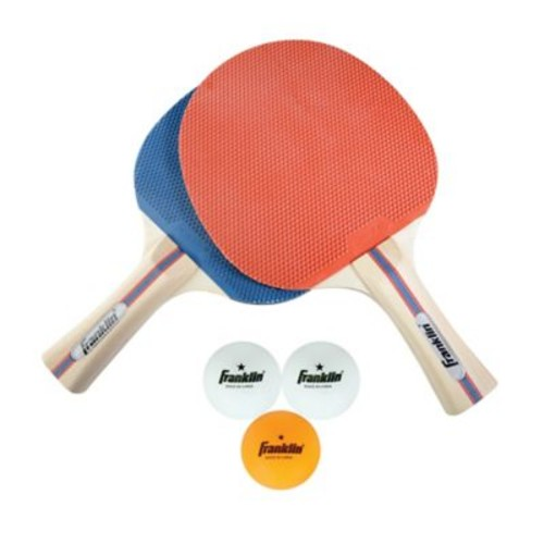 Franklin Sports 2-Player Paddle & Ball Set in Blue/Red