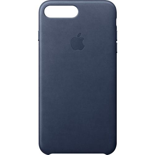 Apple - iPhone 8 Plus/7 Plus Leather Case - Midnight Blue