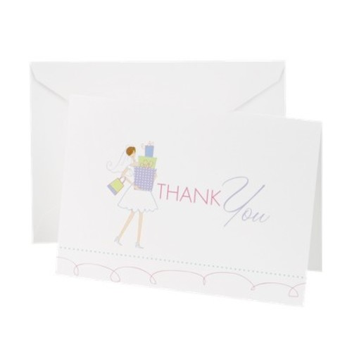 Hortense B. Hewitt Wedding Accessories Bridal Thank You Cards, Pack of 25