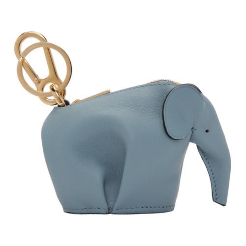 Blue Elephant Charm Keychain