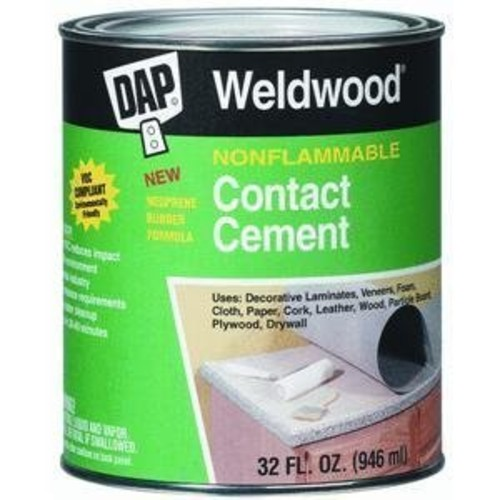 Dap 25336 Weldwood Non-Flammable Contact Cement, Gallon [Gallon]