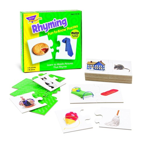 Trend Enterprises Rhyming Fun-to-Know Puzzle