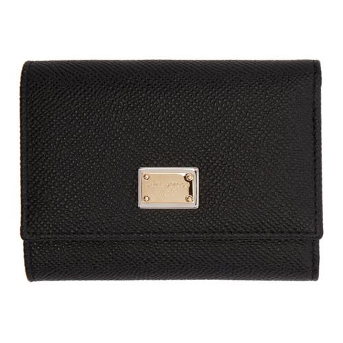 DOLCE & GABBANA Black Small Foldover Wallet