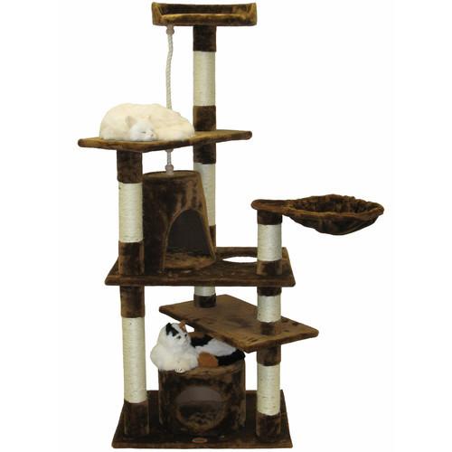 Go Pet Club Beige Cat Condo Furniture - 62 in. [Beige]