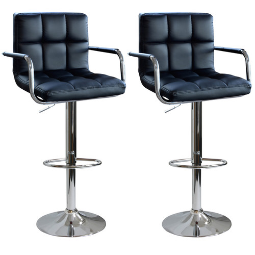 AmeriHome Modern Padded Bar Stool (2-piece Set)
