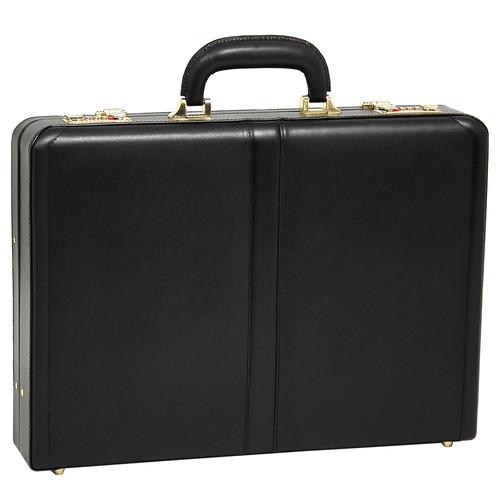 McKlein Reagan 80445 Black Leather Attache Case