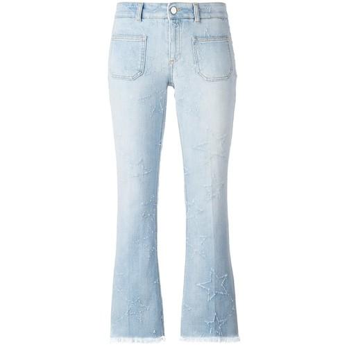 STELLA MCCARTNEY Skinny Kick Embroidered Star Jeans
