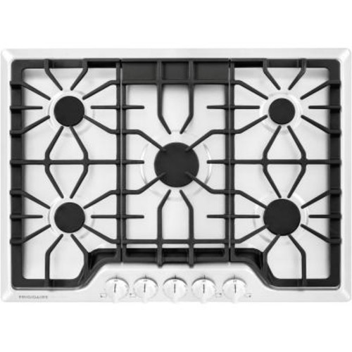 Frigidaire Gallery 30 in. Gas Cooktop in White with 5 Burners