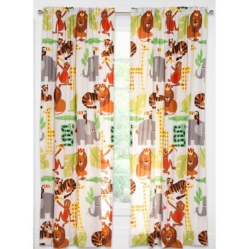 Crayola Jungle Love 84-Inch Rod Pocket Window Curtain Panel