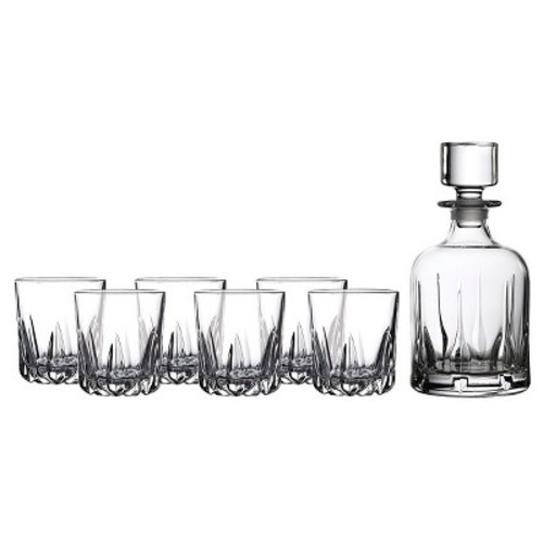 Royal Doulton Mode 5pc Whiskey Decanter and Glasses Set