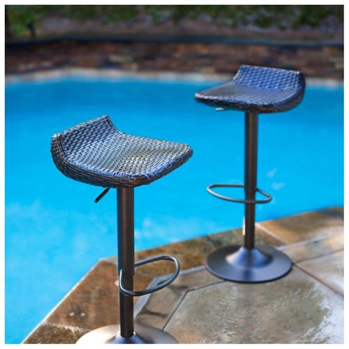 RST Living Woven Wicker Barstools (Set of 2)