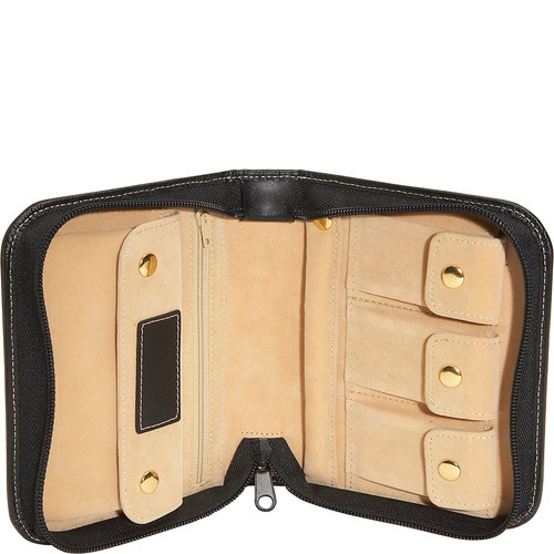 Royce Leather Zippered Jewelry Case