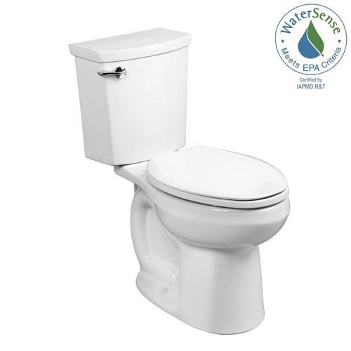 American Standard H2Optimum 2-piece 1.1 GPF Single Flush Elongated Toilet in White