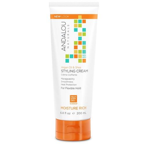 Andalou Naturals Styling Cream Argan Oil & Shea Moisture Rich -- 6.8 fl oz