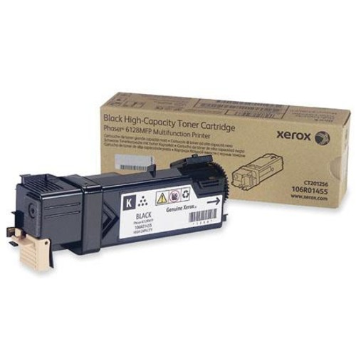 Xerox 106R01455 Black Toner Cartridge, 3100 Pages Yield 106R01455