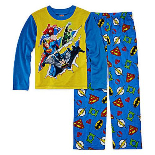 Boys DC Comics Justice League 4-Piece Pajama Set