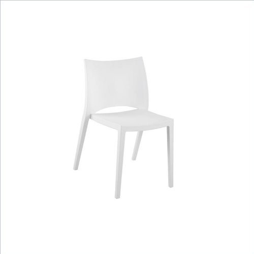 Eur Style Leslie Indoor/Outdoor Side Dining Chair, Set of 4, White