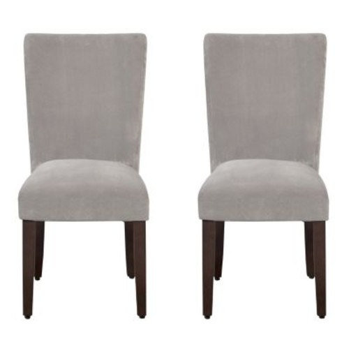 HomePop Velvet Dining Chair 2-piece Set