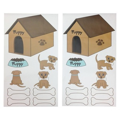 One Grace Place Puppy Pal Boy Wall Decals - Multicolor (20\