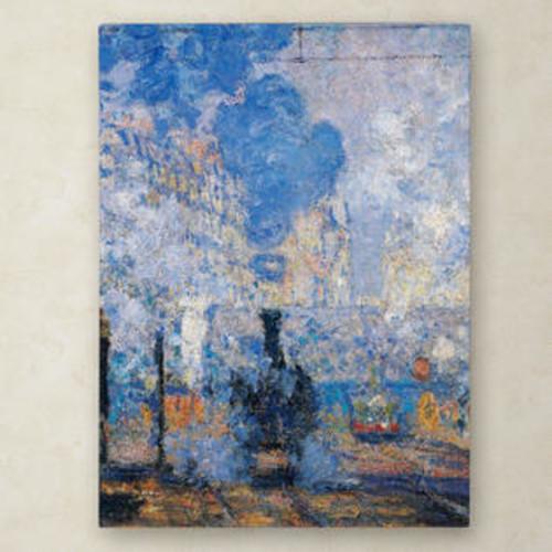 Trademark Global Saint Lazare Station Canvas Art Size: 24