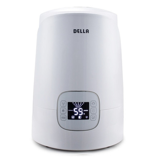 Della Warm & Cool Humidifier Ultrasonic Timer LED 4.5L Capacity Humidity Air Room Bedroom , White