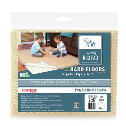 Contact Eco-Stay Rug Pad Cream - 2'x8'