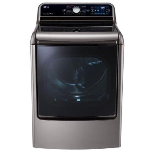 LG Electronics 9.0 cu. ft. Gas Dryer with EasyLoad and Steam in Graphite Steel