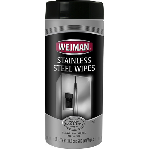 Weiman - Stainless Steel Wipes (30-Pack) - White