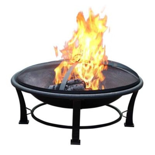 Jeco 35 in. Golden Brush Steel Fire Pit