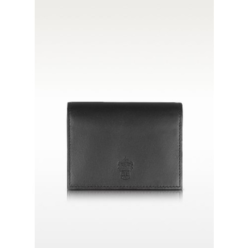 Power Elegance Double Black Leather Card Holder