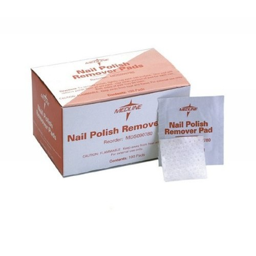 Medline MDS090780 Latex Free Individual Nail Polish Remover Pad (Pack of 1000)