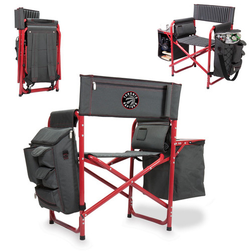 Picnic Time Toronto Raptors Black Polyester Folding Fusion Chair [option : Fusion Grey/Red]