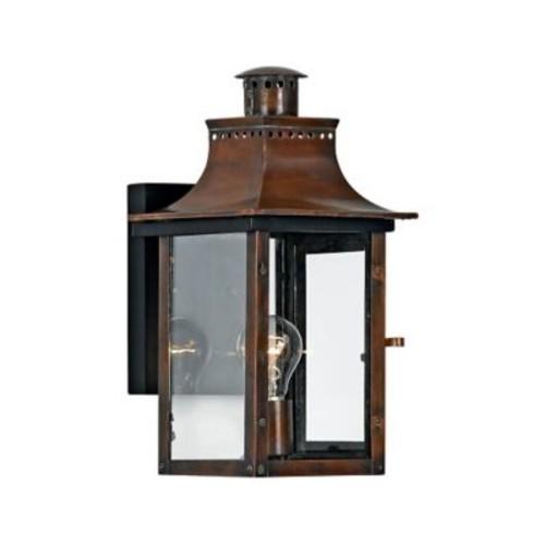 Quoizel CM8408 Aged Copper Wall Lantern