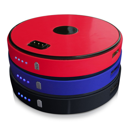 Sungale SPB0201-RBB 3 Disk Round Stackable 9000 mAh Power Bank-Red/Blue/Black
