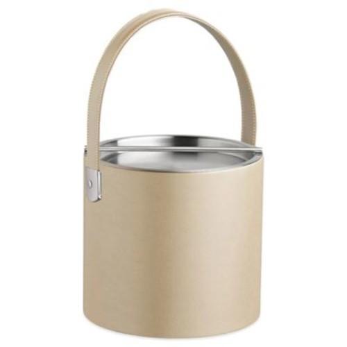 Kraftware Zappa Beige 3 qt. Ice Bucket with Stainless Steel Lid