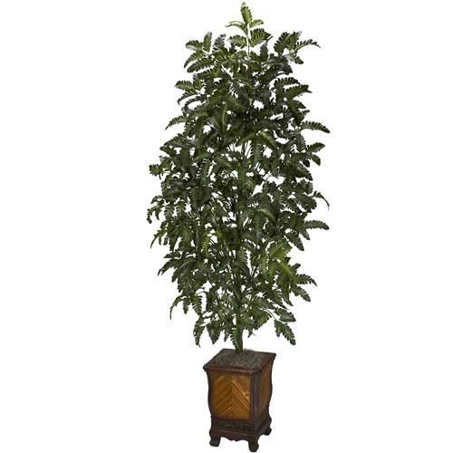 Bracken Fern with Decorative Vase Silk Plant