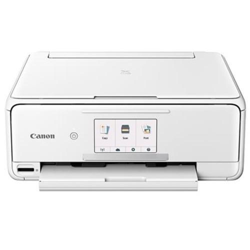 Canon PIXMA TS8120 Wireless Office All-In-One Printer, White