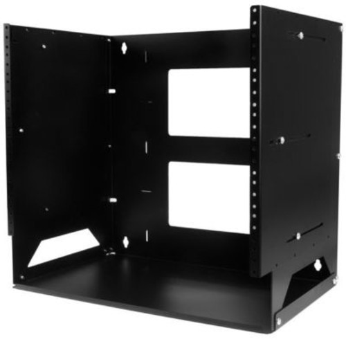 StarTech.com Wall Mount Server Rack Cabinet, Black (WALLSHELF8U)