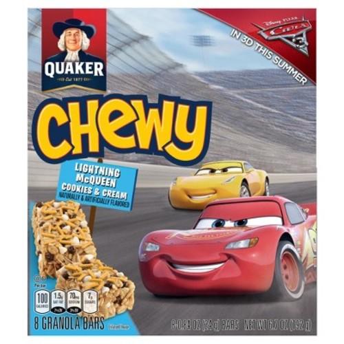 Quaker Lightning Mcqueen Cookies & Cream Granola Bars - 6.7oz